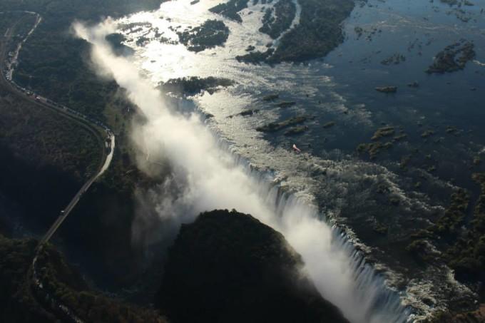 Helikopterrundflug über die Victoria Falls