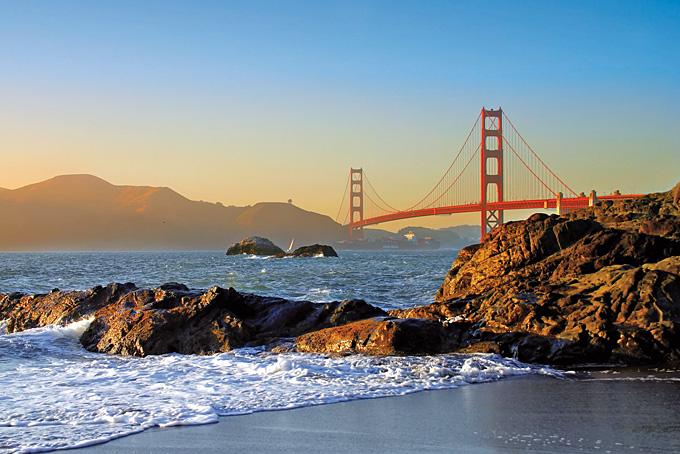 Die Baker Beach von San Francisco