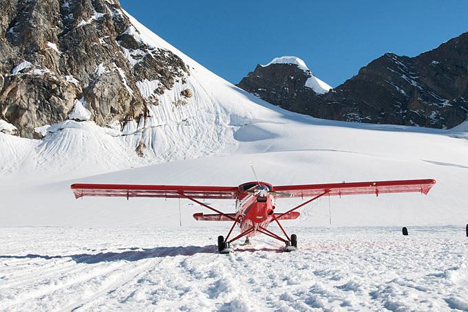 Flug ab Talkeetna zum Mount McKinley