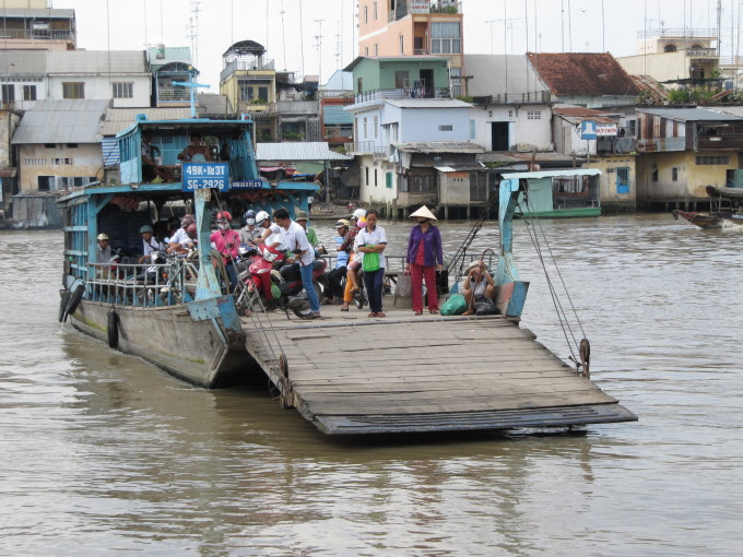 Fähre im Mekong-Delta