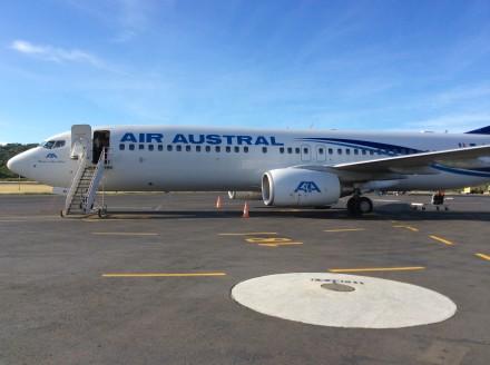 Die Ankunft mit der Air Austral