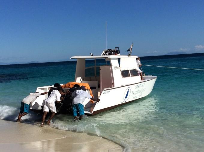 Das Privatboot vom Hotel Constance Tsarabanjina