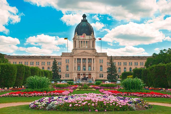 Das Parlamentsgebäude in Regina