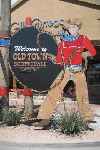 Eingang zur Oldtown von Scottsdale