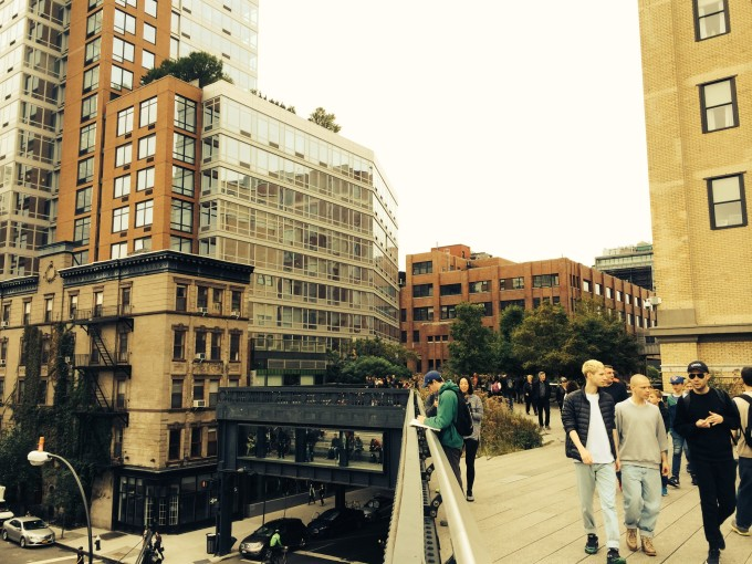 Panorama Fenster im High Line Park
