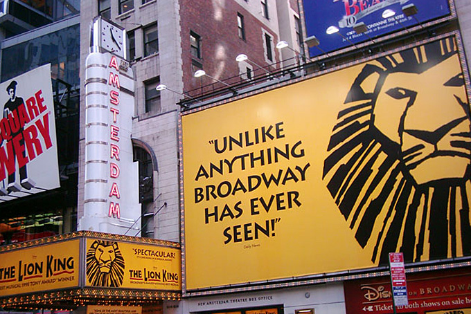 Lion King am Broadway in New York / Copyright:  Thomas Crenshaw @ flickr