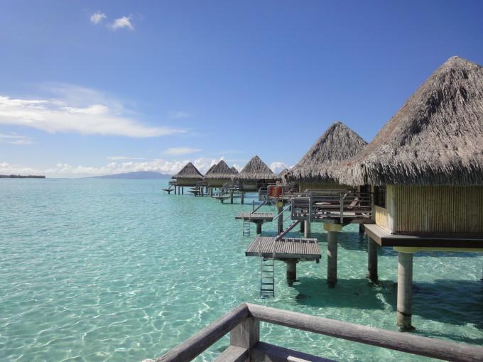Overwater Bungalows auf Bora Bora