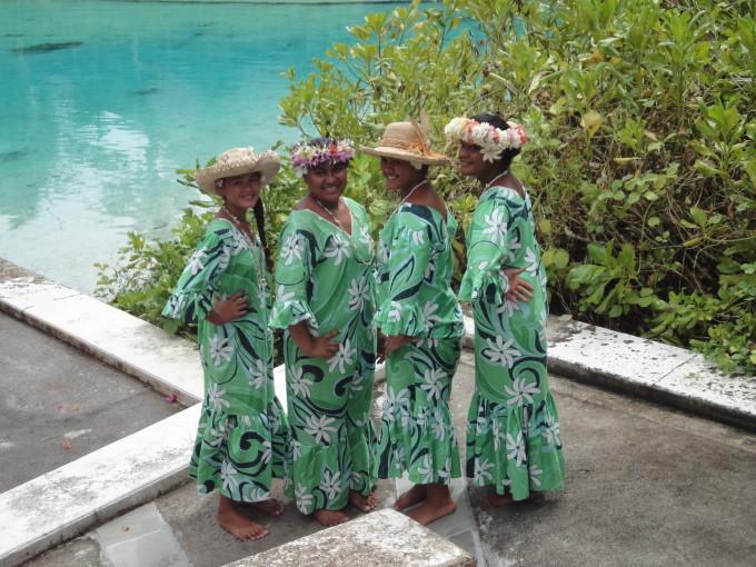 Herzliche Polynesierinnen