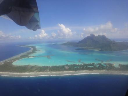 Bora Bora aus der Luft