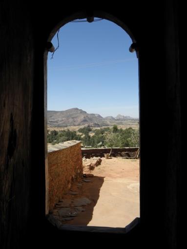 Blick aus einer Tigray Kirche ins Umland
