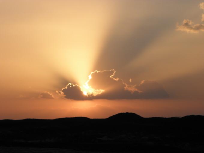 Sonnenuntergang über Äthiopien