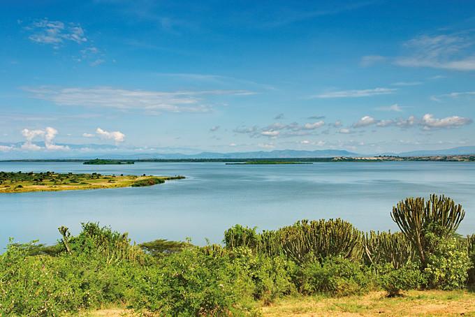 Der Kazinga Kanal von Uganda