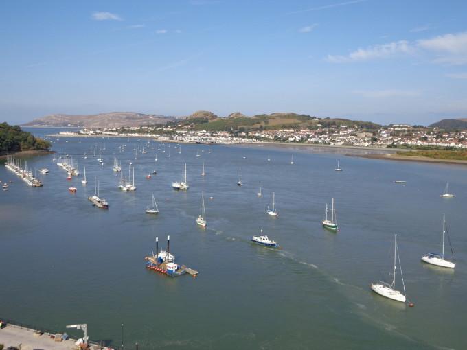 Der Hafen von Conwy