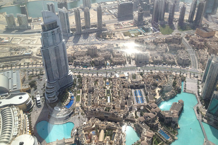 Vue depuis la Burj Khalifa