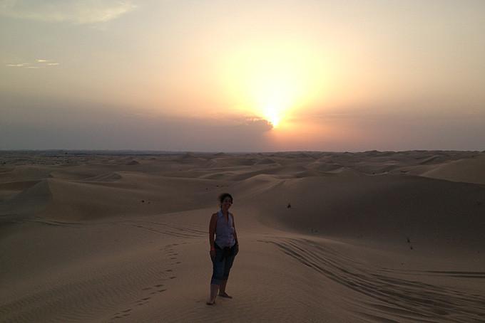 Valérie Herren dans le désert