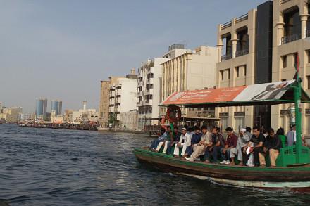 Fahrt mit der Abra auf dem Dubai Creek