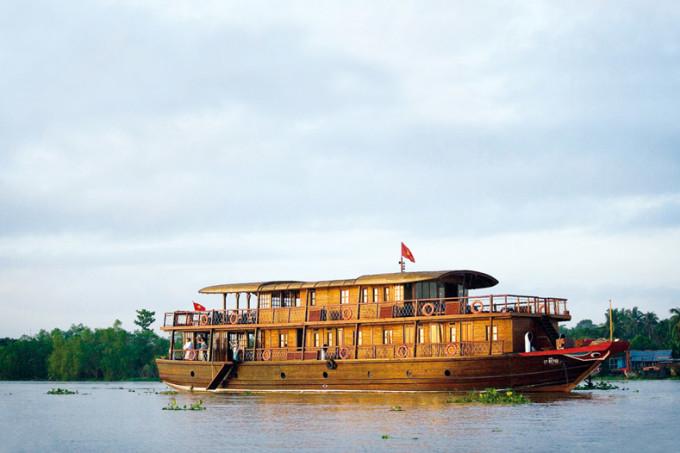 Eine Schiffsfahrt aud dem Mekong-Delta