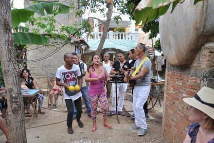 Die kubanische Santa Palabra Band