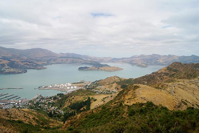 Aussicht über Christchurchs Umgebung