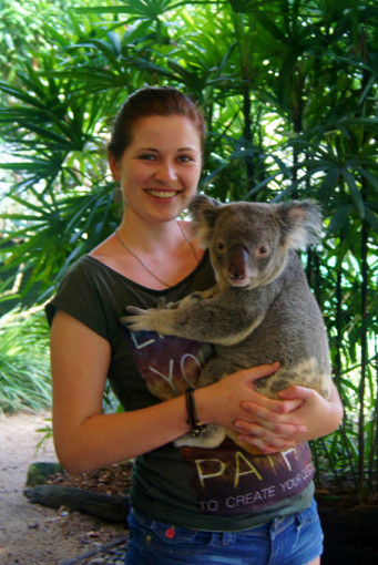Sandrina in der Wildlife Sanctuary nahe Cairns