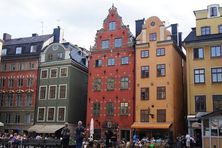 Typische Gässchen in Stockholm