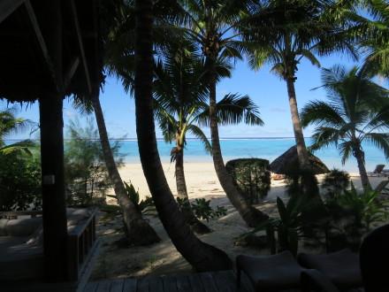 Aussicht vom Bungalow des little Polynesian