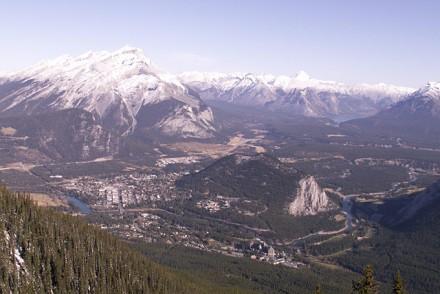 Vue sur Banff de Sulphur Mountain