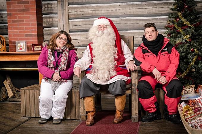 Beim Weihnachtsmann in Rovaniemi