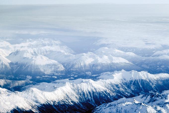 Das Gebirge in Kanada