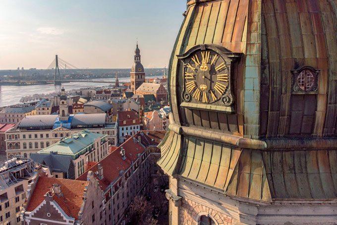 Sicht auf die Altstadt von Riga