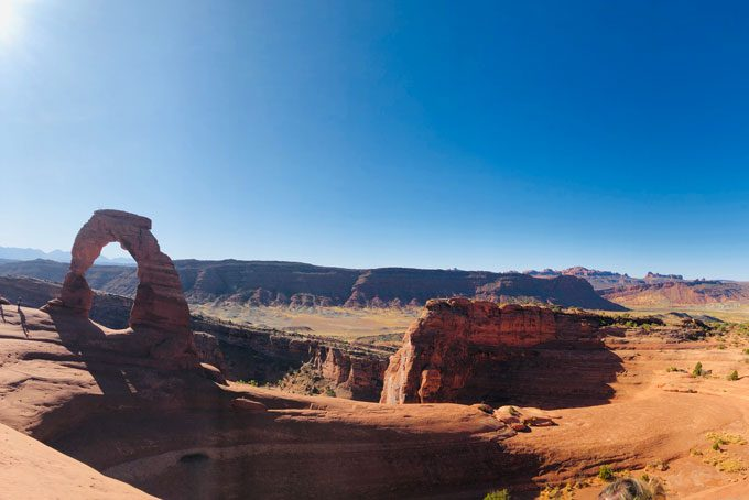 Arches Nationalpark mit Blick auf den Delicate Arch, Moab