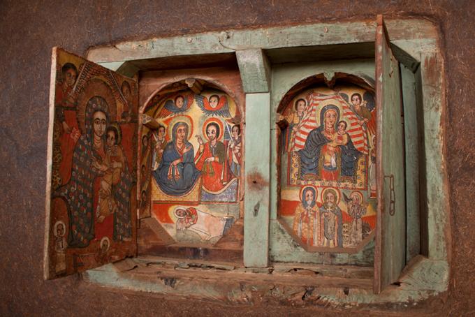 Rundkirche Ura Kidane Mehret auf einer Halbinsel im Tanasee