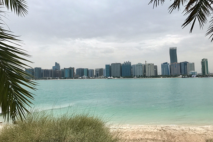 Blick auf die Abu Dhabi Corniche