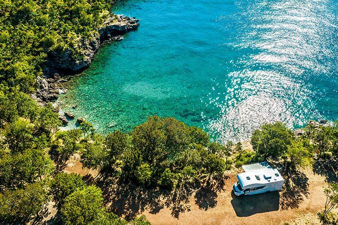 Campingplatz direkt an der kroatischen Küste