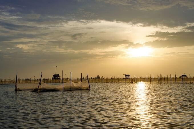 Bootsfahrt bei der Fischerei und Meeresfrüchtezucht in Hue