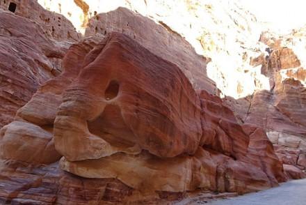 Teil des Talkessels in Petra
