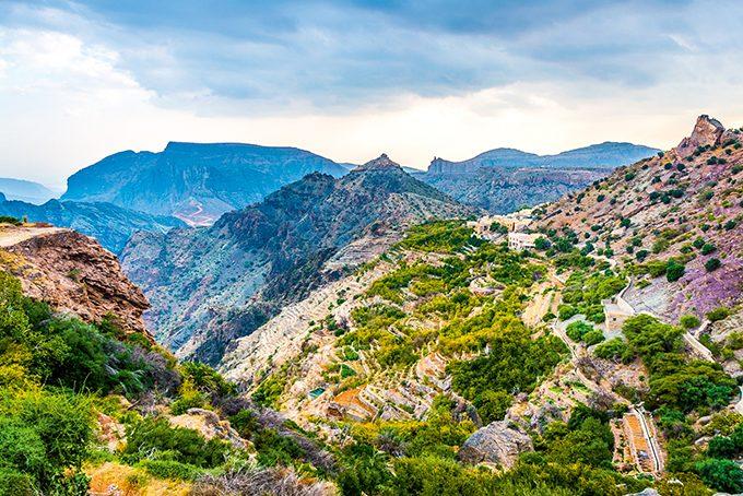 Grüne Berge von Jebel Akhdar