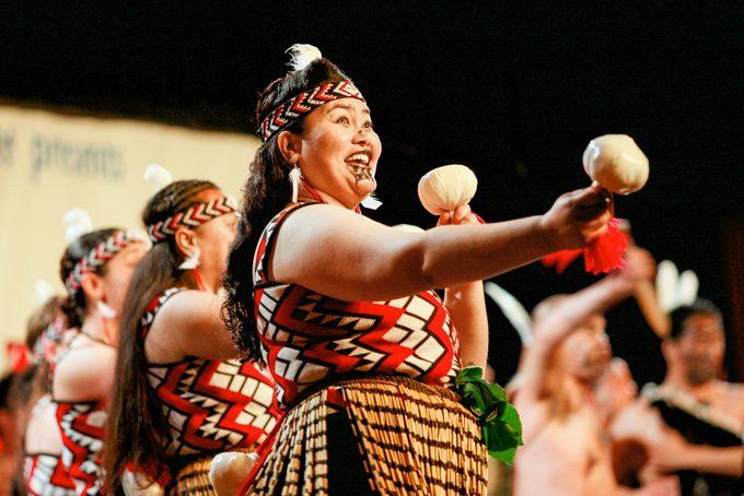 Kulturelle Maori Darbietung