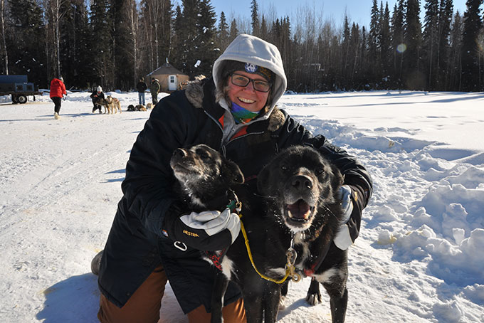 Hundeschlittenfahren nahe Fairbanks