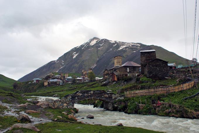 Eines der Dörfer der Gemeinschaft Ushguli