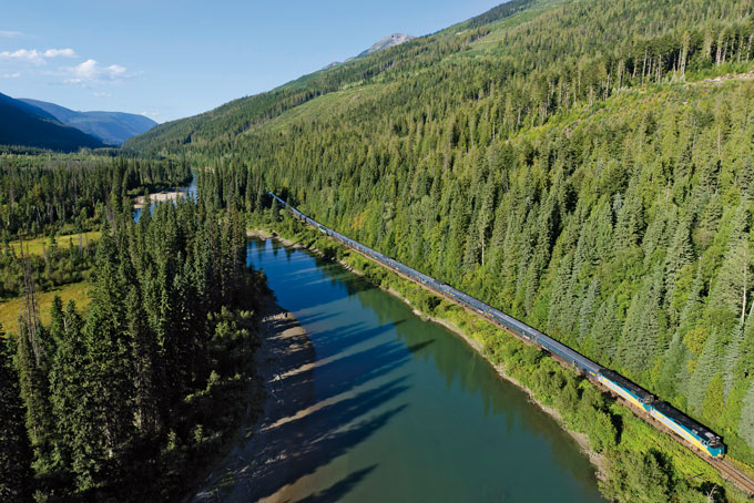 5 raisons de voyager en train au Canada