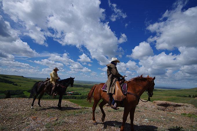 Reesor Ranch Cowboys mit herrlicher Aussicht