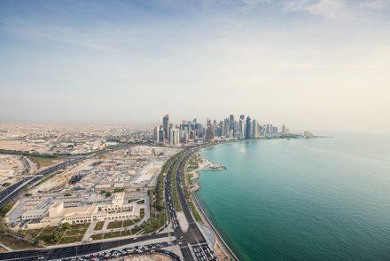 Skyline entlang der West Bay in Doha