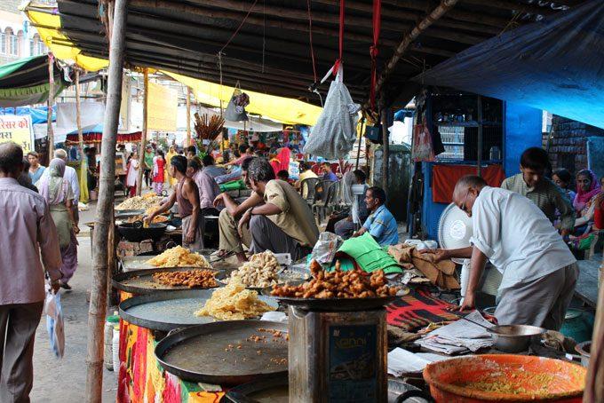 Markt unterwegs am Strassenrand