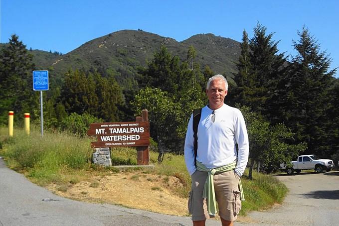 Ich am Fusse des Mt. Tamalpais
