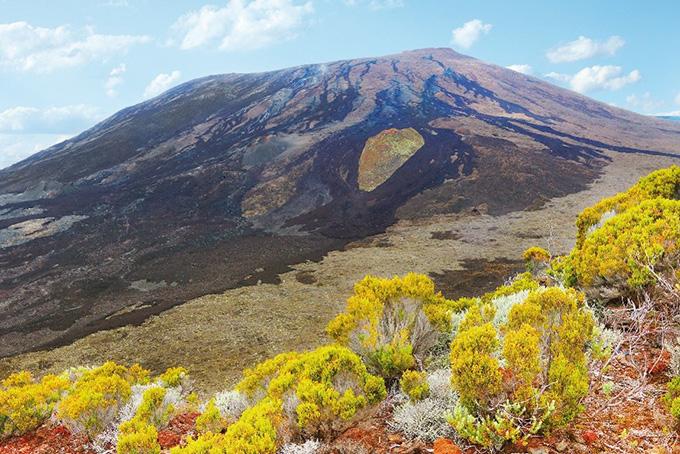 La Réunion: volcan du Piton de la Fournaise.