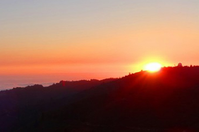 Sonnenuntergang vom Mt. Tam aus