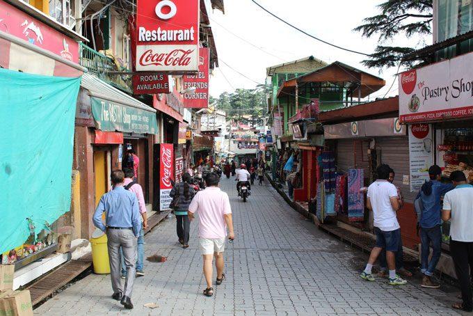 Strasse in Dharamsala