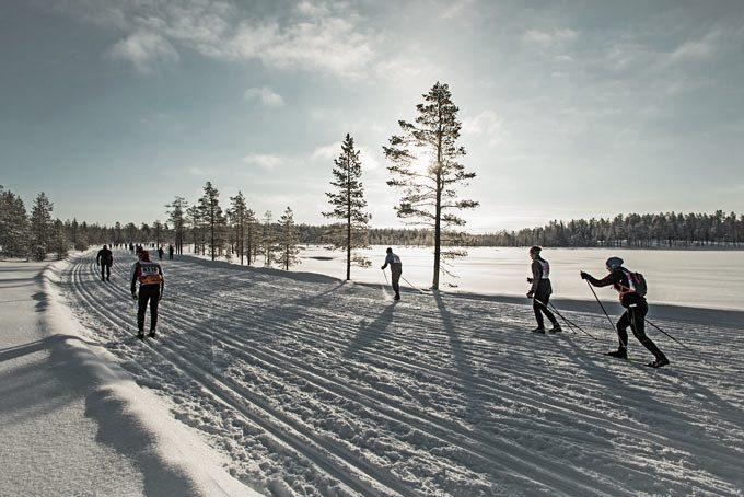 Langlaufrennen in Vasaloppet, Schweden