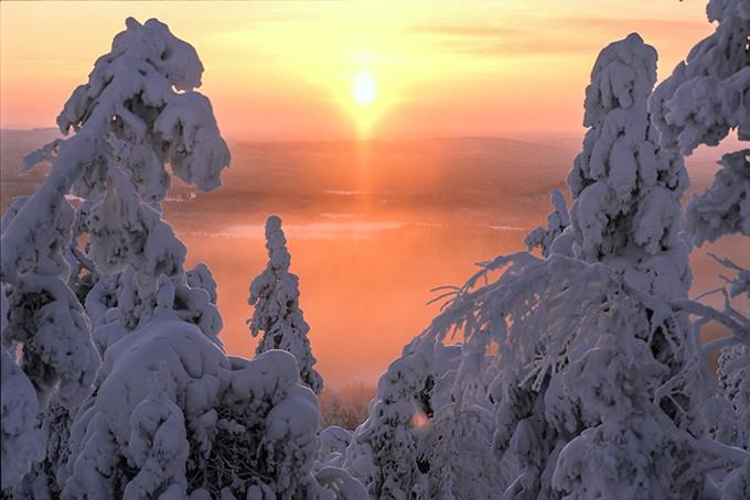 Verschneite-Landschaften